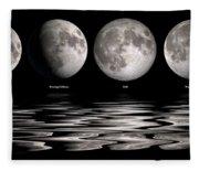 Phases Of The Moon Fleece Blanket
