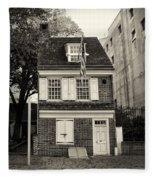 Philadelphia - The Betsy Ross House Fleece Blanket