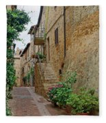 Pienza Street Fleece Blanket
