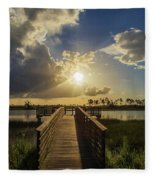 Pine Glades Sunset Fleece Blanket