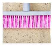 Pink Broom Fleece Blanket