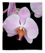 Pink Orchid Vii Fleece Blanket
