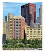 Pittsburgh Building Cluster Fleece Blanket