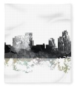 Pittsburgh Pennsylvania Skyline Fleece Blanket