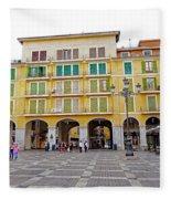 Placa Mayor In Palma Majorca Spain Fleece Blanket
