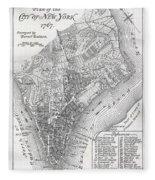 Plan Of The City Of New York Fleece Blanket