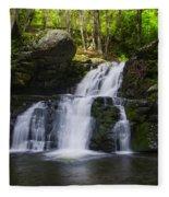 Pocono Mountains - Flowing Cascades Fleece Blanket