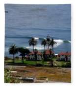 Point Loma Lighthouse 2 Fleece Blanket