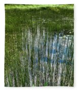 Pond Grasses Fleece Blanket