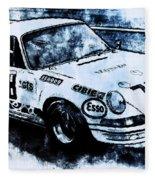Porsche Carrera Rsr, 1973 - 03 Fleece Blanket