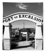 Port Of Excelsior Fleece Blanket