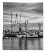 Port Royal Shrimp Boats Fleece Blanket
