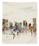 Portland Oregon Skyline Fleece Blanket