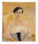 Portrait Of A Lady Boris Grigoriev Fleece Blanket