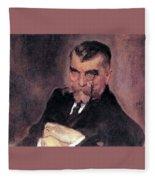 Portrait Of Aa Stahovich 1911 Valentin Serov Fleece Blanket
