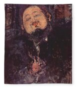 Portrait Of Diego Rivera 1914  Fleece Blanket