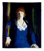 Portrait Of Florence Pierce Fleece Blanket