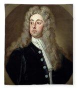 Portrait Of Francis 2nd Earl Of Godolphin 1678-1766 Sir Godfrey Kneller Fleece Blanket