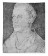 Portrait Of Jakob Fugger  Fleece Blanket