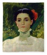 Portrait Of Maggie Wilson Fleece Blanket