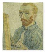Portrait Of Vincent Van Gogh Fleece Blanket