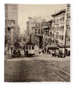 Powell Street Hill - San Francisco 1945 Fleece Blanket