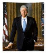 President Bill Clinton Fleece Blanket