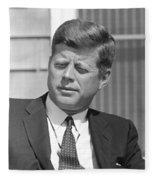 President John Kennedy Fleece Blanket