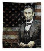 President Lincoln  Fleece Blanket