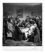 President Lincoln's Deathbed Fleece Blanket