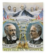 Presidential Campaign, 1888 Fleece Blanket