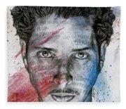 Pretty Noose - Tribute To  Chris Cornell Fleece Blanket