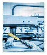 Print Screening Metal Machine. Fleece Blanket