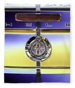 Psychedelic Shelby Ford Mustang Trunk Lid And Badge 4 Fleece Blanket