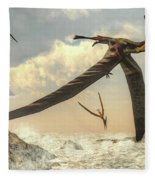 Pteranodon Birds Flying - 3d Render Fleece Blanket