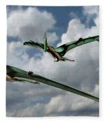 Pterodactyls In Flight Fleece Blanket