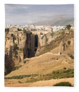Puente Nuevo Tajo De Ronda Andalucia Spain Europe Fleece Blanket