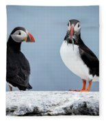 Puffins Fleece Blanket