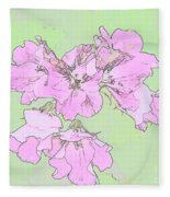 Purple And Green Fleece Blanket