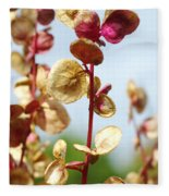 Purple Goosefoot Chenopodium Fleece Blanket