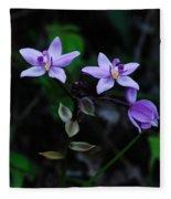 Purple Orchids 2 Fleece Blanket