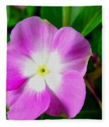 Purple Periwinkle Flower 1 Fleece Blanket