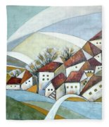 Quiet Village Fleece Blanket
