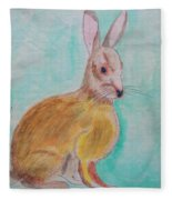 Rabbit Illustration Fleece Blanket