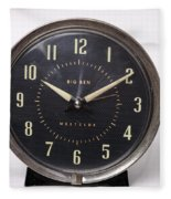 Radium Dial On Clock Fleece Blanket