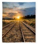 Railroad Fleece Blanket