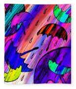 Rainy Day Love Fleece Blanket
