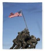 Raising The Flag On Iwo - 799 Fleece Blanket