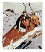 Rape Of Europa Fleece Blanket