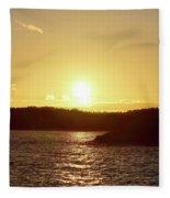 Raumanmeri Sunset Fleece Blanket